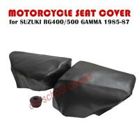 MOTORCYCLE SEAT COVER SUZUKI RG400 RG500 GAMMA 1985-1987 BLACK TWIN SET
