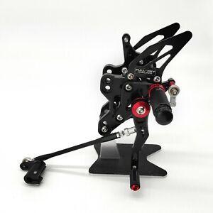 Motorcycle Foot Pegs Rear Sets For Honda CBR650R / CB650R 2019-2020 Black CNC