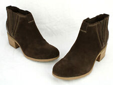 CLARKS Brown Suede Heeled CHELSEA BOOTS 13285 WOMEN'S US SIZE 10 M