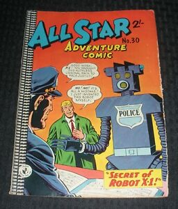 Vintage ALL STAR ADVENTURE COMIC #30 VG 4.0 Australian Gordon & Gotch Robot