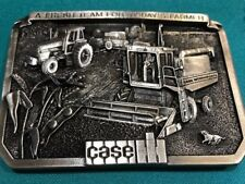 1985 Limited Ed Cast Metal First Buckle Case Ih A Fresh Team For Today's Farmers