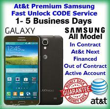 At&t Premium Samsung Galaxy S2 S3 S4 S5 S6 Note2,3,4 Unlock CODE Service