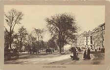 NEW YORK CITY - RIVERSIDE DRIVE HORSE-DRAWN & PEOPLE UNDIVIDED BACK OLD POSTCARD