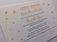 Naming Day - Guide Parent Certificate - Personalised - Free P+P