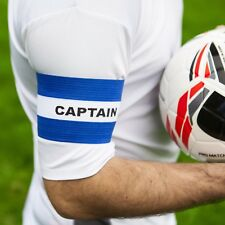 Football Captains Armband WHITE/BLUE SENIOR Arm Band [Net World Sports]
