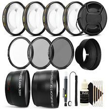 Bundle for Wide Angle and Telephoto Photography For Canon T5 T6 T5i T6i 70D 80D