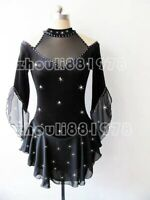 Competition Figure Skating Dress Girls Ice Skating Dresses Custom black