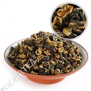 GOARTEA Supreme Organic Yunnan Golden Buds Snail Dianhong Chinese Black Tea