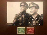 Lt. Hugo Broch, German WW II Pilot Ace with 8O Victories, Signed Photo and a COA