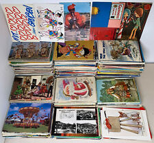 Job Lot 100 X VINTAGE Postcards UK & Foreign Topographical Greetings Social etc