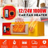 AU 1000W 12V/24V Car Electric Heater Icon Case Heating Warmer Defroster Demister