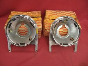 Pair (2) NOS Mercedes-Benz 230SL 250SL 280SL 113 Pagoda Headlight Frames