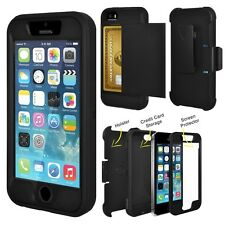 Shockproof Wallet Credit Card Holder Case Cover for Apple iPhone 6 6 Plus 6S 5