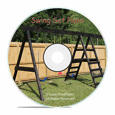 CAD Design Jungle Gym Plans, Swing Set Play Equipment, How to Build Guides