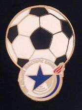 Olympic Soccer Pin ~ Football Badge ~ New on Card ~ 1996 Paralympic Games