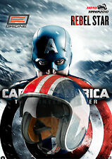 CASCO CAPITAN AMERICA 2 by ORIGINE SPRINT REBEL STAR  con Visiera solare