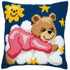 Baby Bear Girl - Large Holed Tapestry Cushion Kit - 1200611