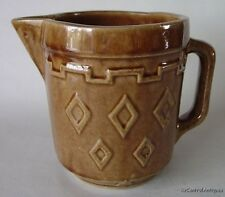 Primitive MONMOUTH WESTERN STONEWARE Brown BATTER PITCHER
