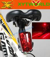 FJ0003 Bike Cycling Bicycle Laser Beam 5 LED Flash Safety Rear Tail Light Lamp