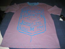 BOYS HURLEY T SHIRT SIZE 5  BLUE/RED  NWT  MSRP $28