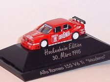 "1:87 HERPA 1995 Alfa Romeo 155 V6 TI DTM ""Hockenheim"" PC box RARE COLLECTABLE !!"