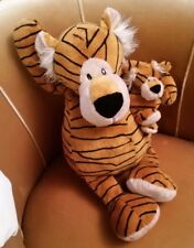 grande Pelouche Tigre maman et bébé doux 50 cm