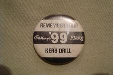 OLD RARE VINTAGE RETRO CADBURYS KERB DRILL 1964 1970 COLLECTOR PIN BUTTON BADGE