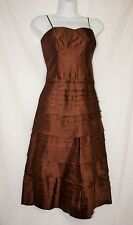 NWT Christiane Celle Calypso St Barth 100% SILK Chocolate Dress 4 Retail $325