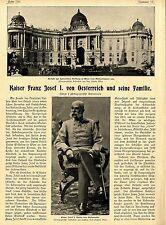 Kaiser Franz Josef I. von Oesterreich und seine Familie ( Bild-Report ) c.1900