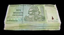 100 x Zimbabwe 10 Trillion Dollar banknotes- paper money currency bundle