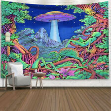 Psychedelic Colorful Trippy Mushroom Tapestry Wall Hanging Home Blankets Decor