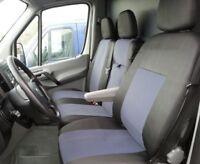 2+1 Sitzbezüge Schonbezüge Polyester Schwarz Grau für Mercedes Benz Sprinter
