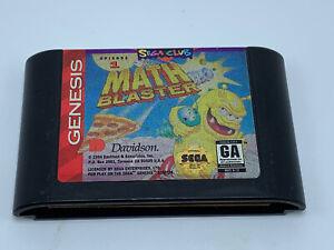 Math Blaster: Episode 1 (Sega Genesis, 1994) Cartridge