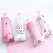 1 PC Kids Trousse Strawberry Print Dentifrice Avec Taille-crayon papeterie