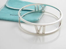 Tiffany & Co NEW MINT WIDE Silver Atlas Bangle Bracelet!