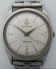 Vintage 1960s Longines Wittnauer Swiss Automatic Stainless Steel Mens Watch