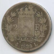 Charles X (1824-1830) 2 Francs argent 1828 L Bayonne
