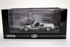 WOW EXTREMELY RARE Dome Zero 2.8L RHD 1978 Silver Opening Doors 1:43 Ebbro-DISM
