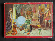 ancienne planche de loto et 6 jetons chromo pour compléter un jeux fin XIX ème