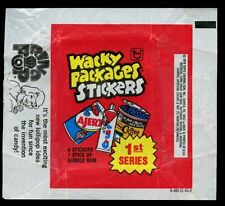 Wacky Packages Advert 1 Stickers Wrapper #W31