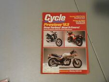 DECEMBER 1982 CYCLE MAGAZINE,SUZUKI XN85 TURBO,HONDA GL1100A,HONDA MAGNA,KAWASAK