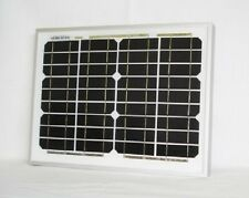 10W Monocrystalline Solar Panel with 5 Metres Two Core Cable, Clips & Diode