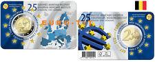 2019   BELGIQUE   COINCARD   2 EURO   25 ° ANNIVERSAIRE  EMI   2019   disponible