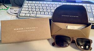 NEW SHWOOD CANBY Walnut Wood POLARIZED Sunglasses