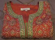 Authentic Indian Dress Vintage Sakshi Made in India Ornate Celebration Gown