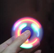 LED Flash Fidget Hand Tri-Spinner Focus Finger 3D EDC Ceramic Bearing xe Gyro