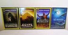 New National Geographic Sea Monsters Inca Afghanistan Egypt DVDs Lot Travel