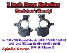 "2001 - 2010 Chevrolet Silverado GMC Sierra 1500hd 2500HD 3500HD 2"" Drop Spindles"