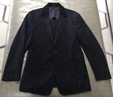 Emporio Armani Italy Mens Linerless Casual 100% Wool Navy Jacket 40 Medium $1295