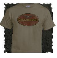 Moto Guzzi Rider Italian Vintage Teeshirt Biker Motorcycle Retro Putty Tee Shirt